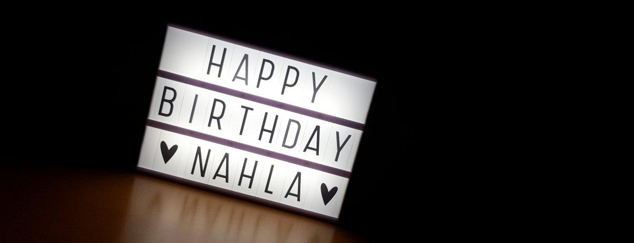 Happy Birthday ♥ Nahla ♥ und unseren B-chen