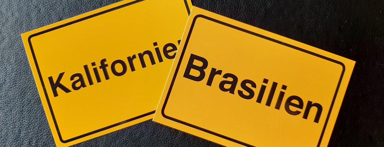 Rund um Kalifornien und Brasilien …